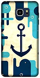 The Racoon Lean the navy hard plastic printed back case for Samsung Galaxy Note 5