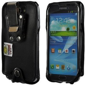 Samsung Galaxy Note Ii Turtleback Heavy Duty Leather Case With Metal Clip