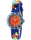 Baby Watch - 606016 - Corsaire - Montre Garçon - Quartz Pédagogique - Cadran Rouge - Bracelet Plastique Bleu