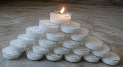 Pure Source India 50 Pcs Pack Of Premium Quality Tea Light Candles Smokeless 6.5 TO 8 Hrs Burning .coming In Poly...