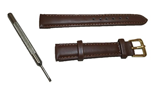 With mounting tool!! Choose from two colors! [Watch replacement leather band: 16 mm (Brown)