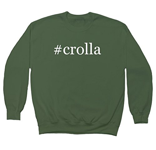 crolla-hashtag-mens-crewneck-fleece-sweatshirt-military-small