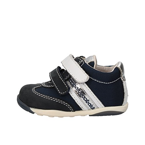 BALDUCCI sneakers bambino blu bianco tessuto pelle AG930 (18 EU)