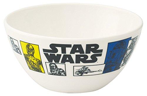 Japan Disney Official Star Wars the Force Awakens - Yoda C-3PO R2-D2 Ewok Chewbacca White Yellow Japanese Ceramic Tea Bowl Matcha Chawan Ceremony Soup Rice Pottery Porcelain Dish Dishware (Yoda Bowl)
