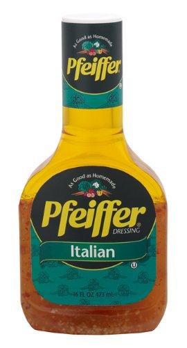 Pfeiffer Dressing, Italian Dress, 16-Ounce Bottles (Pack of 6)