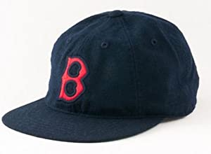 Boston Red Sox American Needle Statesman Cap Washed Flannel Vintage Leather Backstrap... by American Needle