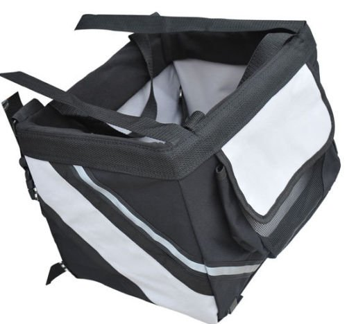 "New Pet Supply Pawhut Black/Gray 15""Lx10.5""Wx10""H Pet Carrier 18 Lbs Capacity front-682085"