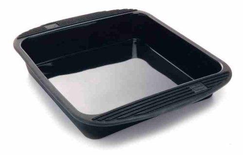 "Mastrad Silicone Square Bake Pan 9"" X 9"".  Color Black"