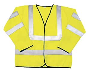 SAS Safety 690-1308 ANSI Class-3 Safety Jacket, Yellow, Medium