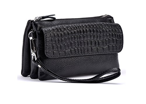 Roselife™ Women Multicolor Fashion Sexy Stone Cow Leather Mini Cross Body Messenger Zipper Handbag