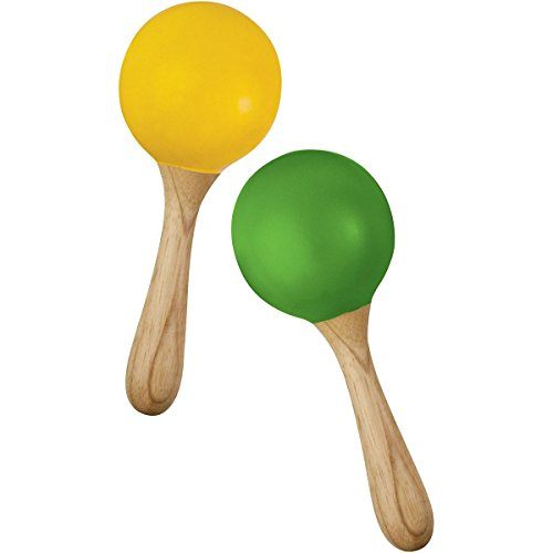 Green Tones 3765 Egg Shape Handle Maracas