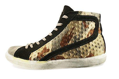 BEVERLY HILLS POLO CLUB sneakers marrone tessuto camoscio AH994 (45 EU)