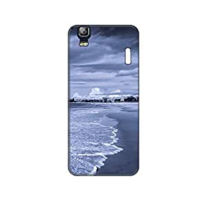 Vibhar printed case back cover for Lenovo A7000 Turbo BluishBeach