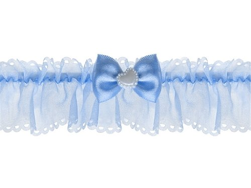 Liga-azul-con-un-pequeo-lazo-y-corazn-para-la-novia-boda