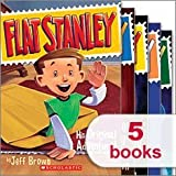 img - for Flat Stanley 5 Book Set - Stanley in Space, Stanley Flat Again!, Invisible Stanley, Stanley and the Magic Lamp, Flat Stanley His Original Adventures (Flat Stanley, 1-5) book / textbook / text book