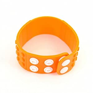 P&o Fashion Man Woman Silicone Replaceable Wrist Watch Band Light Orange