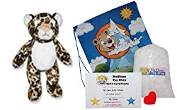 Make Your Own Stuffed Animal Leopard Kit - No Sew - With Cute Backpack!