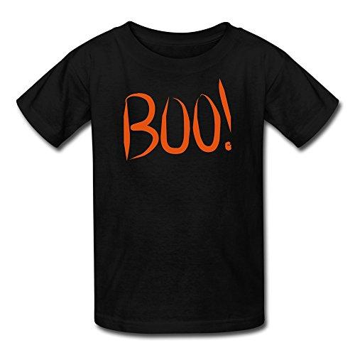 Nasy Boy Boo Cute Font Cotton T-Shirt S Black front-18134