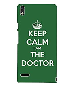 Fuson 3D Printed Doctor Wallpaper Designer Back Case Cover for Huawei Ascend P6 - D680