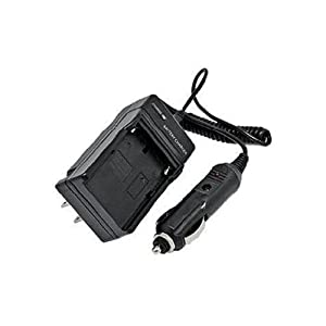 Extended Performance Replacement Mini Battery Travel Charger for Specific Digital Camera and Camcorder Models / Compatible with GE GB-20, GB20, GB 20, GE GB20, GE GB 20, GE-G1, GE-G2, GE-G3, E840S, E8 40S, G3WP with Intelligent-Charge Technology - Includes Car Adapter