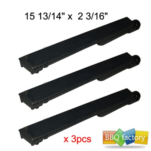 26301(3-Pack) Cast Iron Barbecue Gas Grill Replacement Burner For Mcm, Jennair, Lowes Model Grills