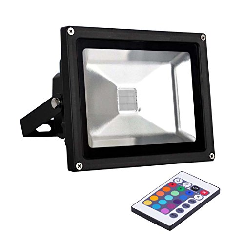 Miniwatts Ip65 Waterproof 20W Ir Remote Control Rgb Led Floodlight With Memory Capacity