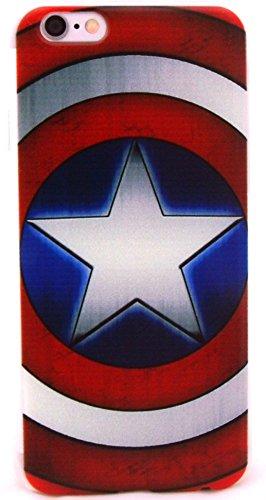 Superhero Classic Designs iPhone 6 Snap-On Cases Featuring Avengers, Superman, Batman, Captain America,Spiderman, or Iron Man (C.A. Shield)