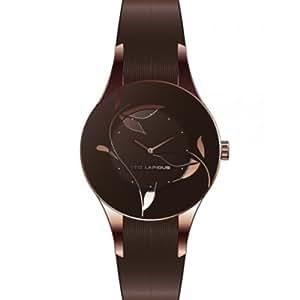 Ted Lapidus - A0548UMPM - Montre Femme - Quartz Analogique - Cadran Marron - Bracelet Cuir Marron