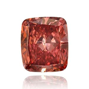 Fancy Red Color Cushion Natural Loose Diamonds 0.29cts Carat GIA Cert SI2
