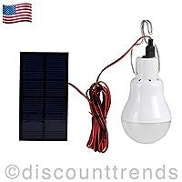Portable Solar Panel Power LED Bulb Lamp...