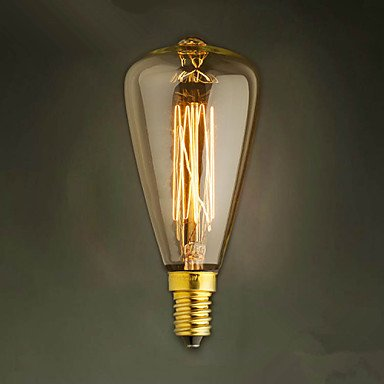 E14 ST48 Yellow Light Bulb Edison Small Screw Cap Retro Chandelier Decorative Light Bulbs