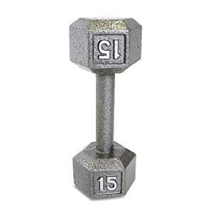 CAP Barbell Solid Hex Dumbbell, Single (15-Pound)