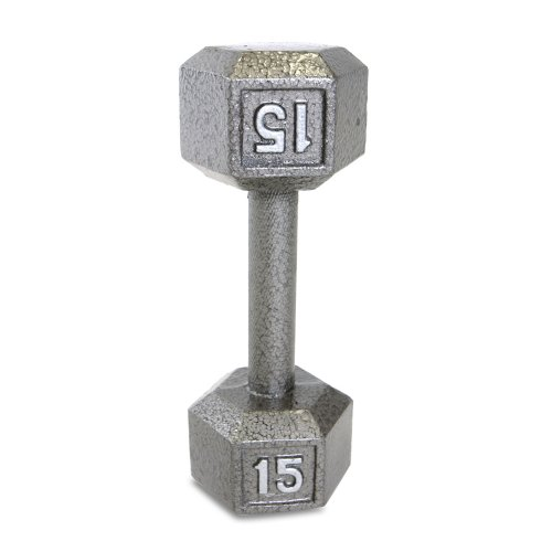 Cap Barbell Solid Hex Single Dumbbell (15-Pound)