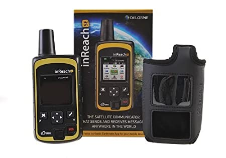 DeLorme inReach SE Two-Way Satellite Communicator with built in Navigation with a BLACK Flotation Case By GTC