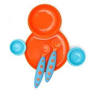 Amazon.com : Boon Groovy And Modware Interlocking Plate And Bowl Set