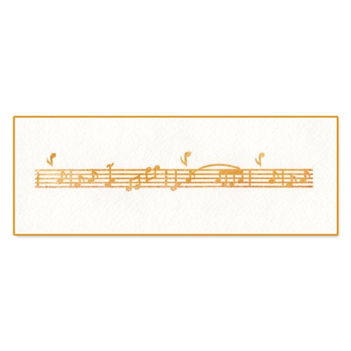 Sizzix Ink-Its Letterpress Plate - Music Notes By Rachael Bright