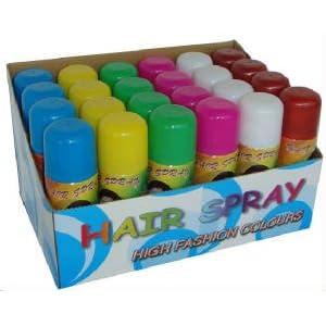 Colored Hair Spray on Colored Hair Spray 3 Oz  24 Cans  Temporary Colored Hair Spray  Beauty