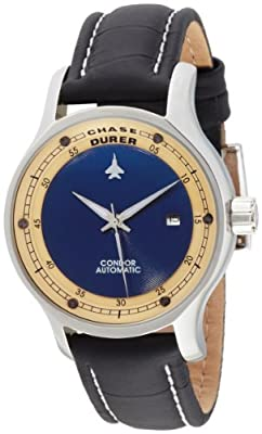 Chase-Durer Men's 501.2LI1-LEA Condor Automatic Navy Black Leather Watch