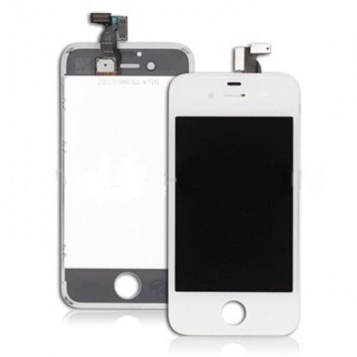 Flylinktech® For Apple Iphone 4 4G Screen Glass Replacement Digitizer With Frame + Lcd Assembly + Tool Kit (White(Fits At&T/Gsm))