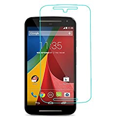 MoArmouz Go - Super Tempered Glass Screen Protector for MOTO G2 by MoArmouz® Screen Guard - Shatterproof, Durable & Drop Resistant / HD / 9H Hardness 3D Touch Compatible / Mobile Accessories / Screen Protectors