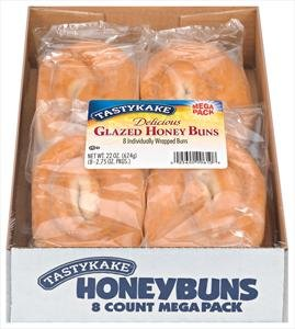Tastykake: Glazed Honey Buns 8 Count (3 Boxes)
