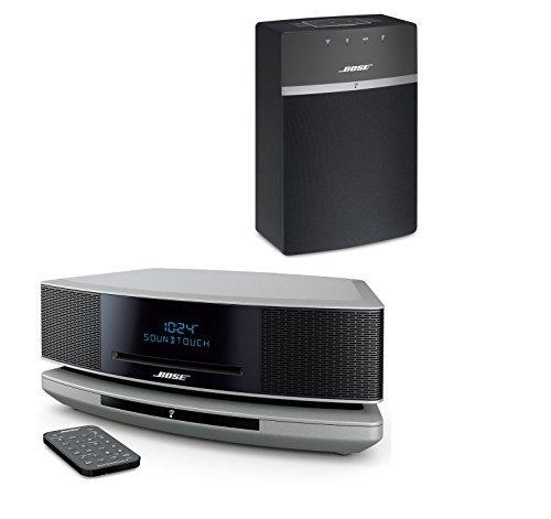 Bose Wave SoundTouch IV - Platinum Silver & SoundTouch 10 - Black Bundle Wi-Fi Music Systems