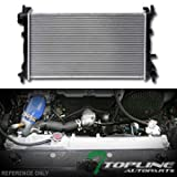 Topline Autopart Aluminum Core Replacement Radiator Cooler For AT Automatic MT Manual Transmission 00-07 Ford Focus 2.0L 2.3L L4 4Cyl Engine DPI 2296
