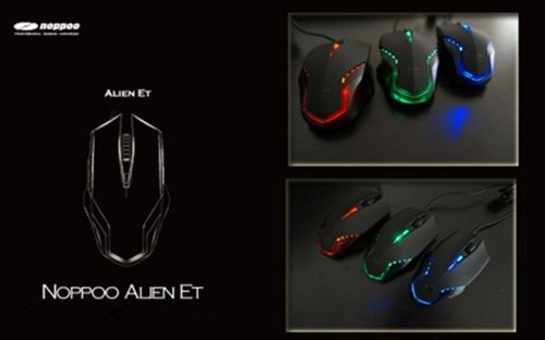 Noppoo Alien Et Blue Engine Gaming Optical Mouse With Special Led Shine (Red Led)