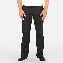 Volcom Men\'s Frickin Modern Stretch Chino Pant, Black, 32