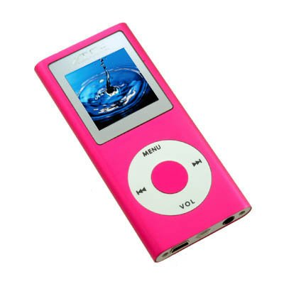 "Full Metal TeckNet V79A Next Generation 2G 1.8"" OLED MP3/MP4 Player With FM and FM Recording(Pink)"