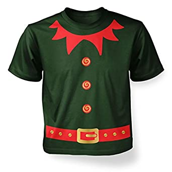 Christmas Elf Kid's (red detail) Costume