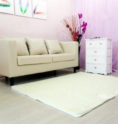 white fluffy carpet for bedroom