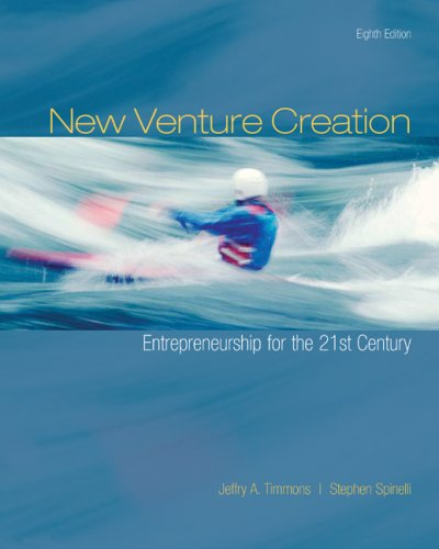 New Venture Creation: Entrepreneurship for the