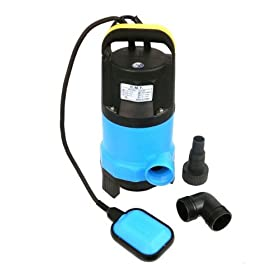 Heavy-Duty 1/2 HP Dirty Water Submersible Pump with Float Switch - 1,800 Gallons-Per-Hour Evacuation